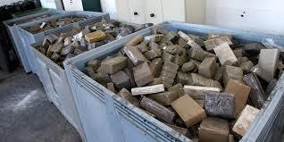 Photo de Tanger. Saisie de plus de quatre tonnes de résine de cannabis