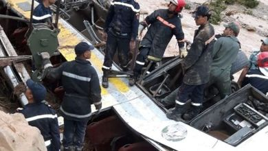 Photo de Renversement de l'autocar à Errachidia: Trois autres corps retrouvés