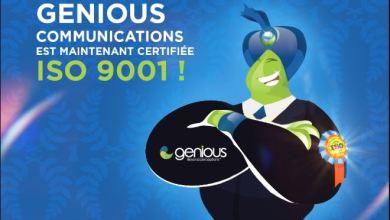 Photo de Genious Communication.  Deux certifications ISO à la fois !