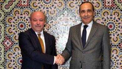 Photo de El Malki reçoit l'ambassadeur algérien