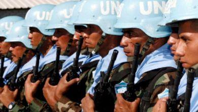Photo de Hommage Onusien, à titre posthume, à un Casque bleu marocain