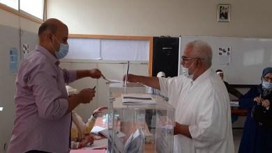 Photo de L'ex-chef du gouvernement, Abdelilah Benkirane, vote à Rabat