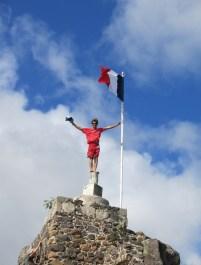 En haut du fort à Marigot.