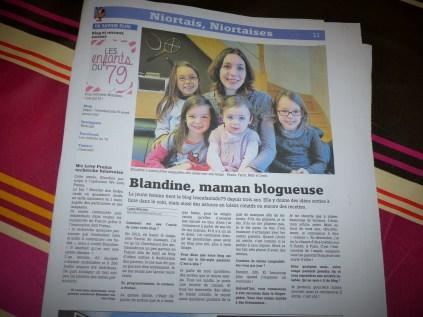 Grande page sur le journal local