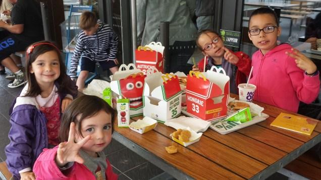 Déjeuner au Mac Do