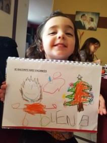 Le joli dessin de Léna sur son cahier de vie