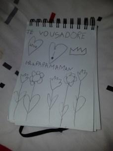 Un joli dessin et mot doux de Mila ♥