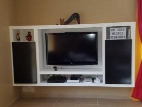 Le joli meuble TV réalisé par Sebricole