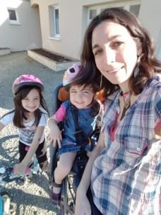 Petit tour en vélo avec Mila et léna