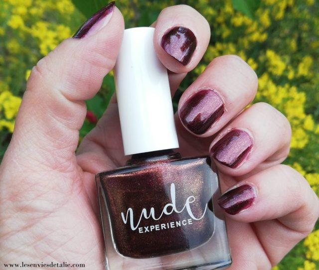 Mes mains avec le Vernis Great Smoky Nude experience