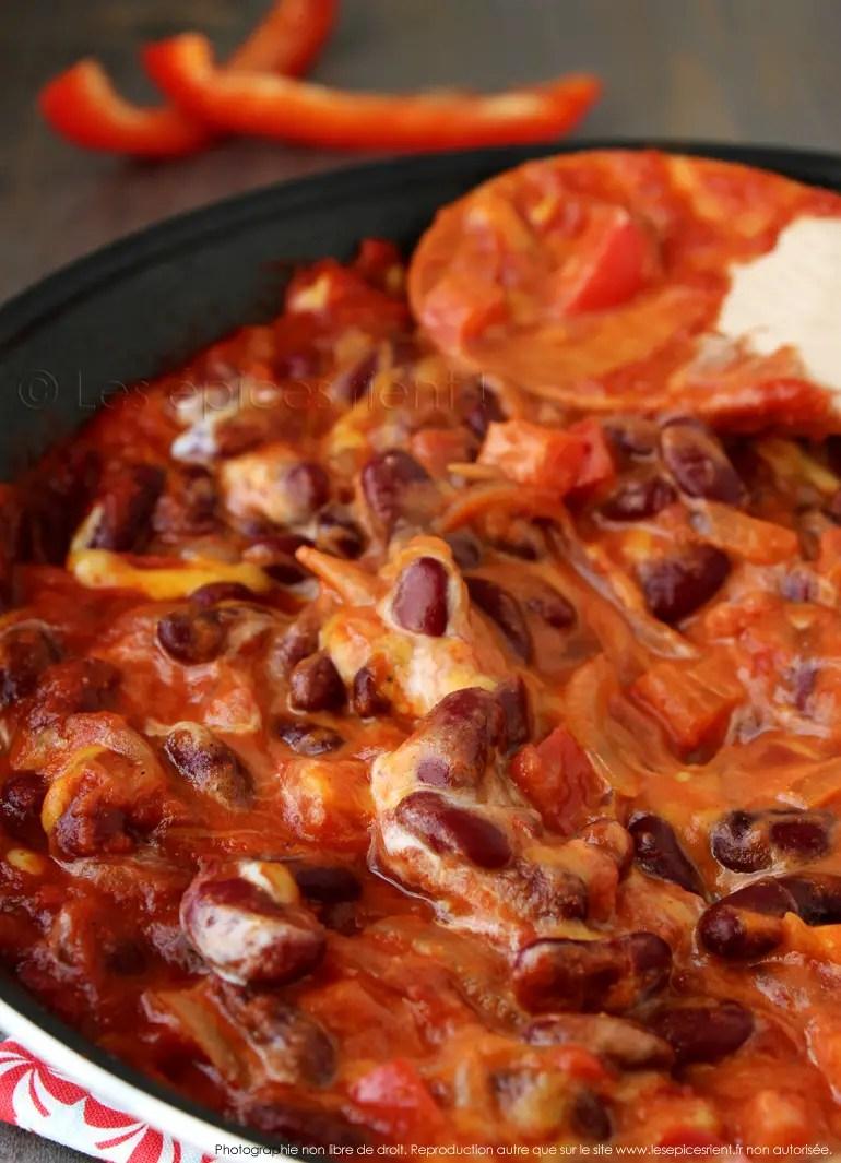 Recette Sans Viande Pour Le Soir : recette, viande, Haricots, Rouges, Mexicaine, Chili, Viande, épices, Rient
