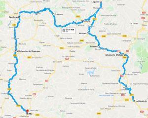 Aveyron , itinéraire.