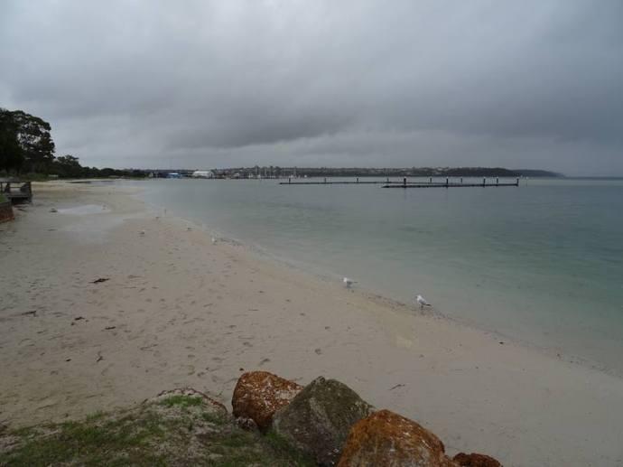 plage d'Emu Point avec sa piscine
