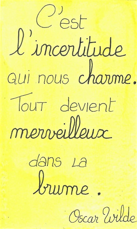 C'est L'incertitude Qui Nous Charme. Tout Devient Merveilleux Dans La Brume : c'est, l'incertitude, charme., devient, merveilleux, brume, Carte, Semaine, Césame, états, D'âme