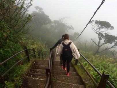 descente de l'adam's peak au sri lanka