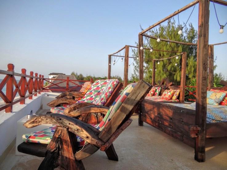 Le rooftop du Z Hotel à Zanzibar
