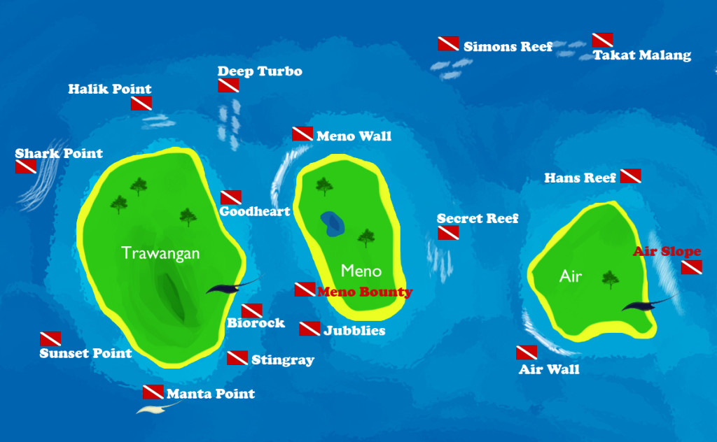 Gili-Islands-Dive-Map