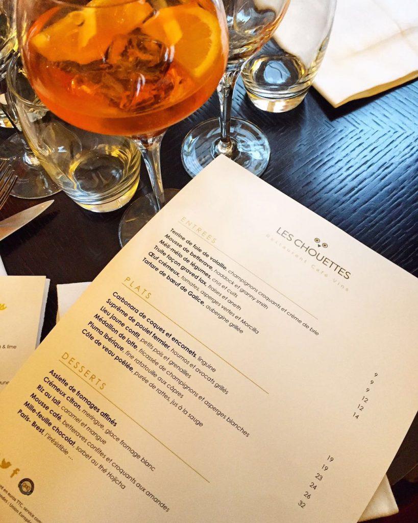 les-chouettes-restaurant-paris-carte-menu