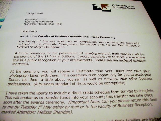 les-exploratrices-australie-2007-faculty-of-business-awards-invitation