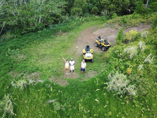 tour en quad sur l'île de huahine