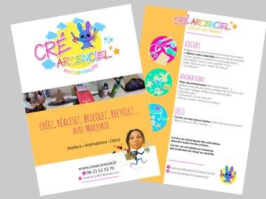 Création flyer Cré Arc En Ciel - Les Fabricateurs d'images