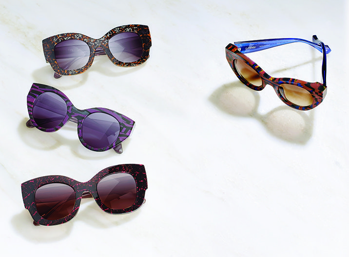 FENDI XTHIERRY LASRY SUNGLASSES CAPSULE COLLECTION 55