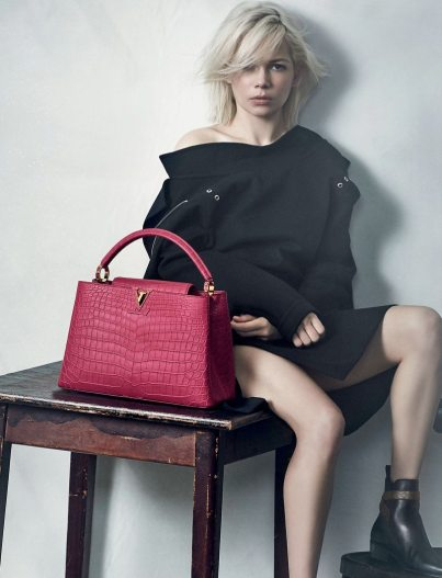 LOUIS VUITTON CAPUCINES HANDBAG CAMPAIGN FEATURING MICHELLE WILLIAMS 5