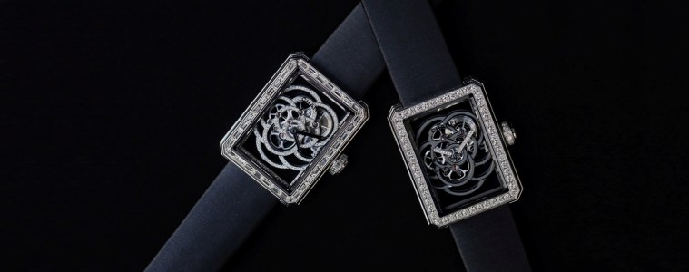 CHANEL PREMIERE CAMELIA SKELETON TIMEPIECE COLLECTION