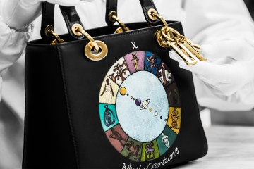 CHRISTIAN LADY WHEEL OF FORTUNE LADY DIOR HANDBAG