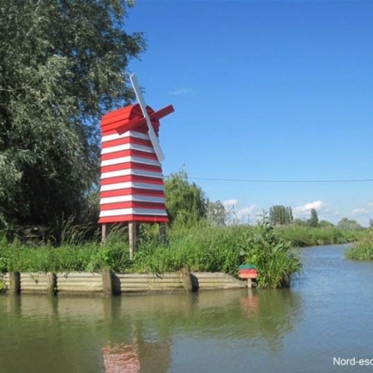 Le moulin rouge, ancienne guinguette de Saint-Omer