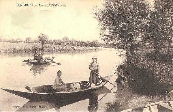 Escute traditionnelle sur les rivières de Saint-Omer