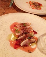 Flame Grilled Mackerel, Blood Orange, Wild Fennel & Garum (sauce poisson fermentée)
