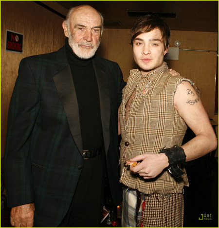Ed Westwick et Sean Connery