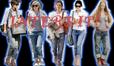 Le jean boyfrien est interdit!