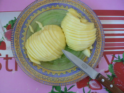 Lamelles de pommes