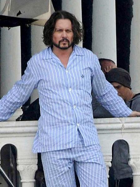Johnny Depp en pyjama