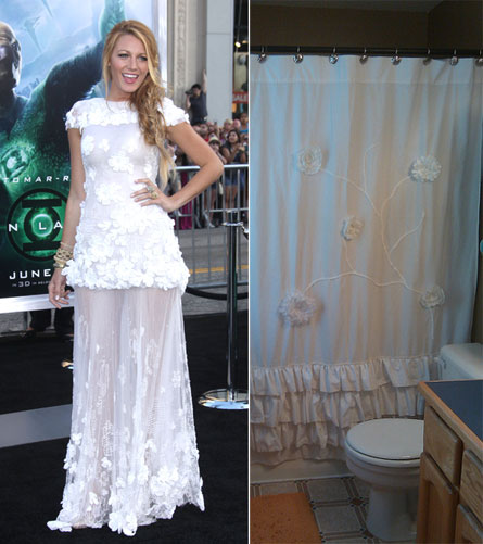 Blake Lively s'habille avec un rideau de douche !