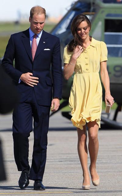 Le Prince William et sa femme, la duchesse de Cambridge