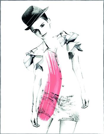Rouge In Love Illustration