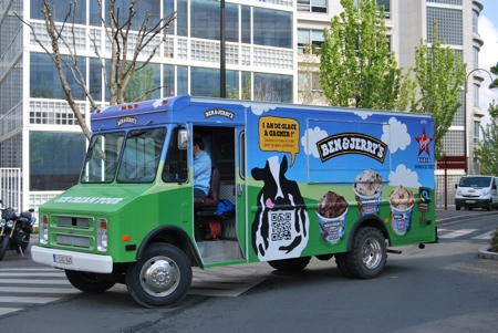 La cowmobile Ben & Jerry's !