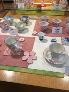 Service à thé et porte-baguettes