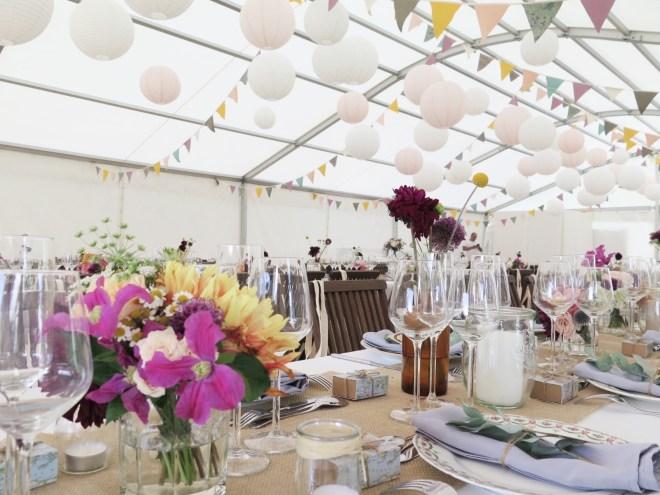 centre-table-bouquet-champetre-mariage