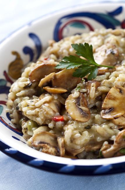 Risotto poulet, champignon (succès garanti ^^) : Recette