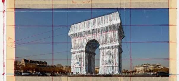Christo se prépare à emballer l'Arc de Triomphe en 2020