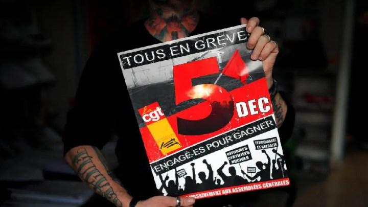 Greve contre la réforme des régimes de retraite en France