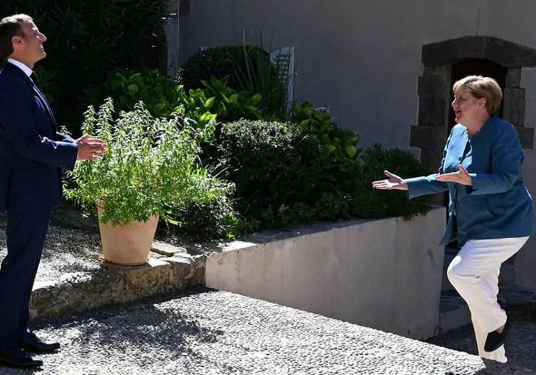 Macron et Merkel affichent l'unité du couple franco-allemand