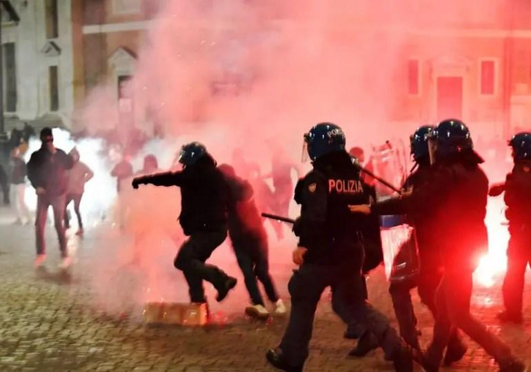 Violences contre les mesures anti-covid en Europe