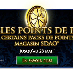 Double Points Bonus sur les gros packs