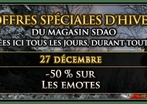 Offres spéciales d'hiver 27/12
