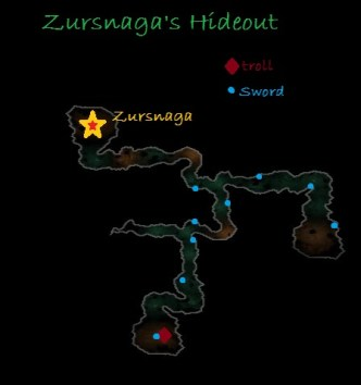 Carte de la cache de Zursnaga - Rohan
